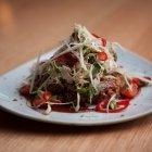 Low & slow smokey pork shoulder w asian apple slaw